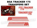 BSA Tracker 175 Transfer Decal Set Red